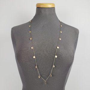 Stella & Dot Silver Dainty Chain Long Necklace